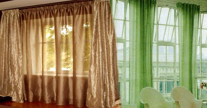 Струнные карнизы для штор лучше применять с легкими тканями (их часто...