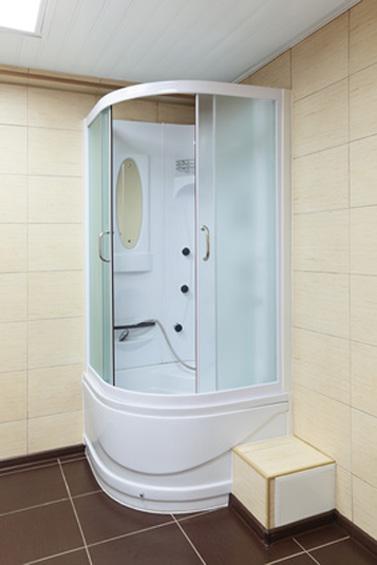 Маленькая ванная с душевой кабиной дизайн фото
