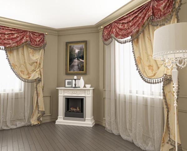 Красивые шторы для гостиной фото
